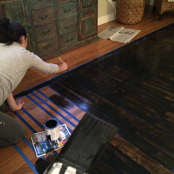 Painted Floor Rugs, an Impeccable D.I.Y