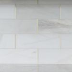 brass schluter strip with marble