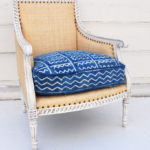 raffia upholstered chair