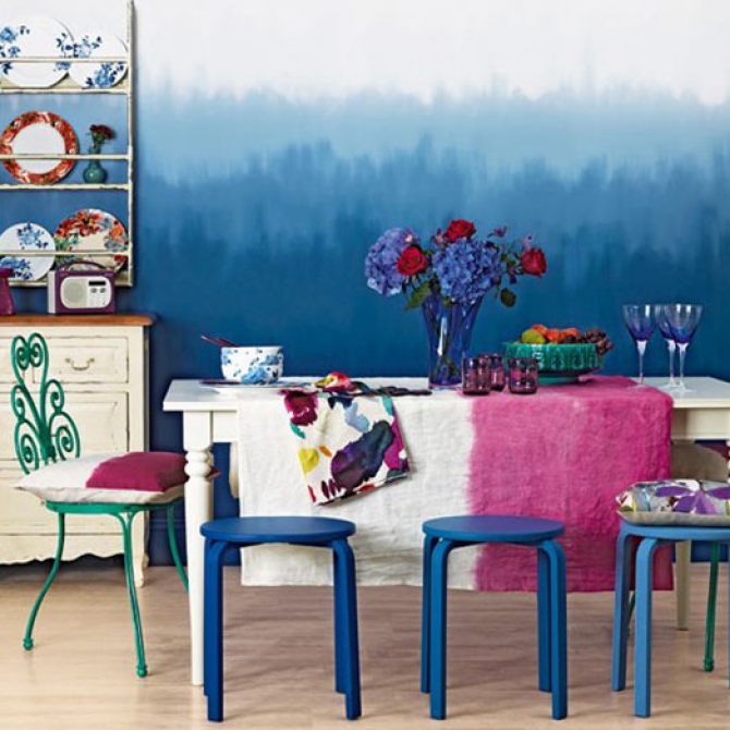 Dipped-dyed walls: Not a half-baked idea.
