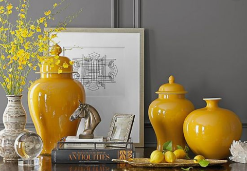 Decorating with Ginger Jars