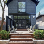 Dark Home Exterior Facades: Not for your white picket fence crowd