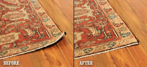 Friday Impeccable Finds: Designer tip to keep rugs flat.