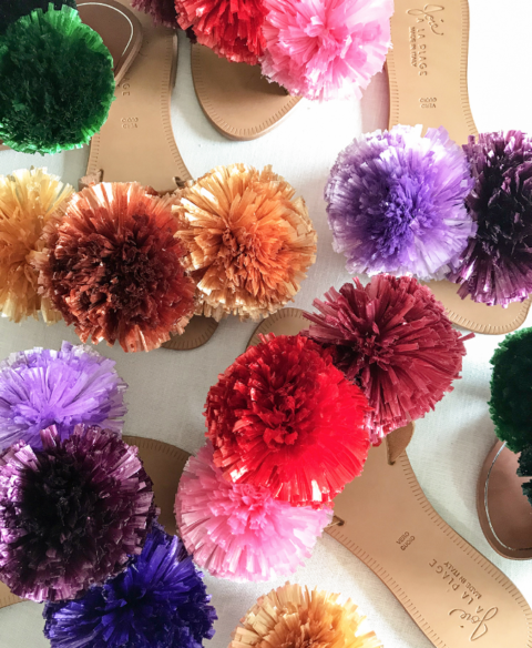 Friday Impeccable Finds: DIY pompom sandals