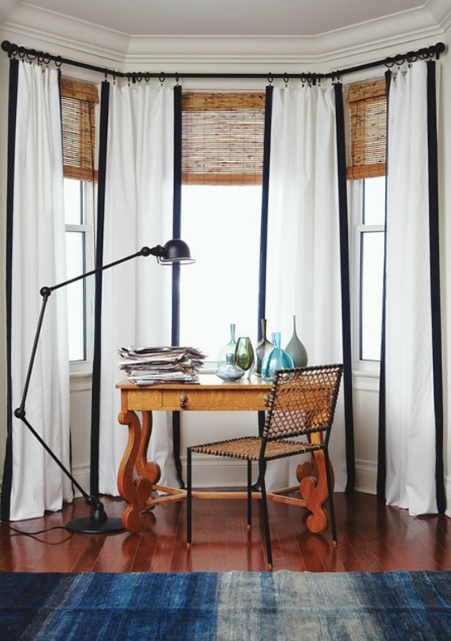 Window Treatments: Bamboo Blinds