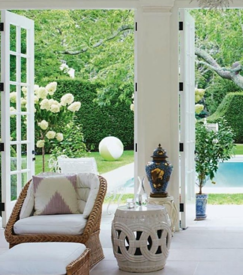 Why designers love garden stools.