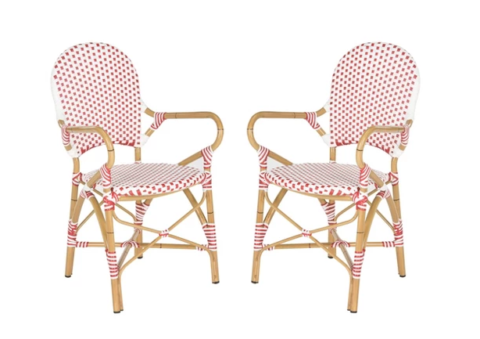 french wicker chairs