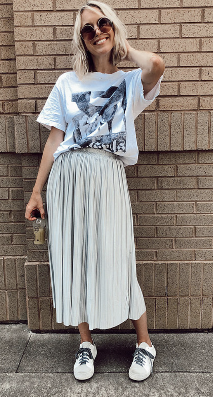 Impeccable Finds: Sneakers and Skirts