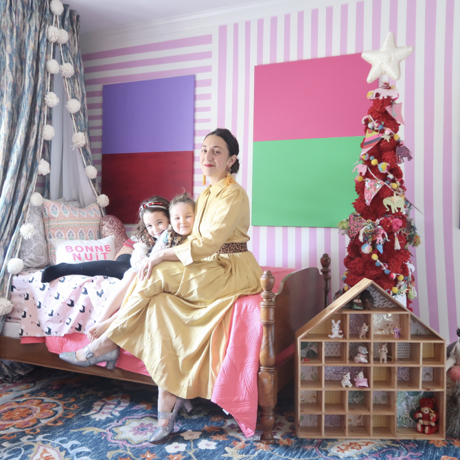 An Impeccable DIY: Bed Coronets for a girls room