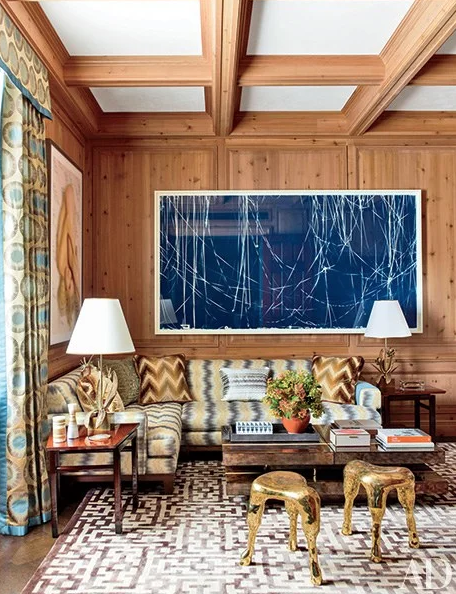 Dark wood paneling can be cool