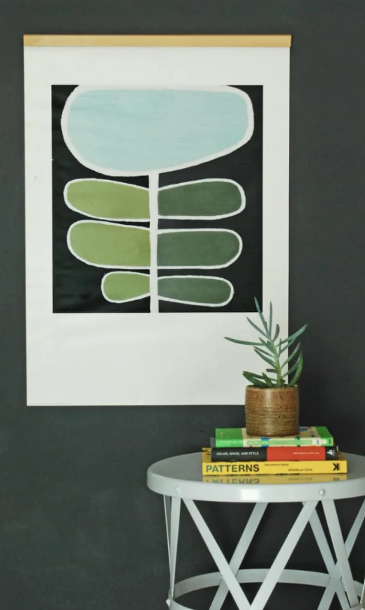 how to hang unframed art