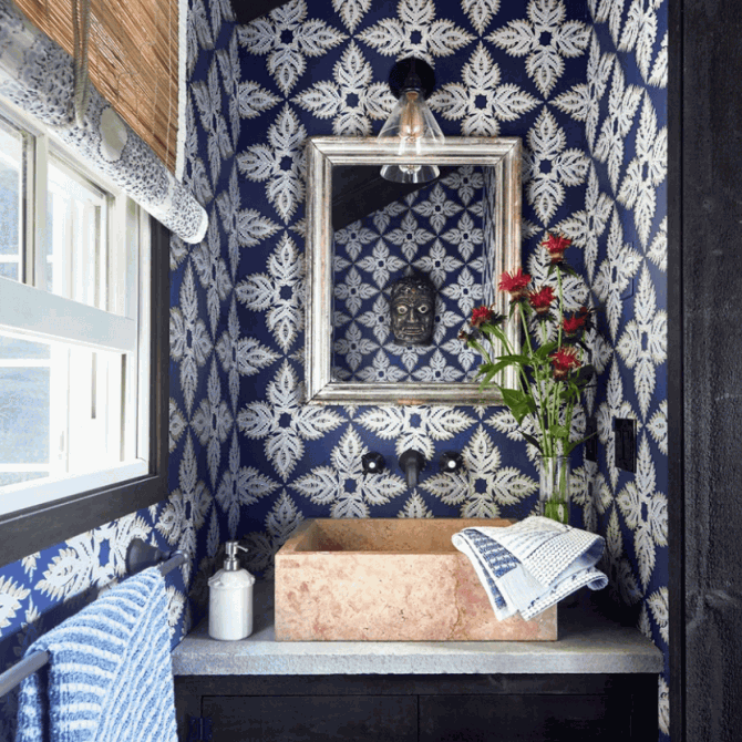 Pattern at Play in John Robshaw's home