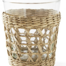 Raffia wrapped glasses