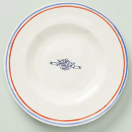 striped plate